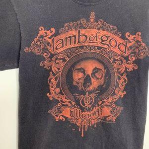 Hanes Shirts - Mens S Black/Red Lamb of God Wrath Shirt